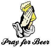 Pray for Beer lettering and design — Stock vektor