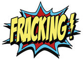 Explosion bubble fracking — Stock Vector