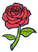 Rosa rossa — Vettoriale Stock