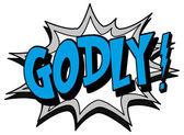 Explosion bubble godly — Stock Vector