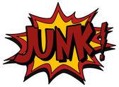 Explosion bubble junk — Stock Vector