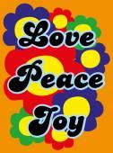 Love, peace, joy — Stock Vector