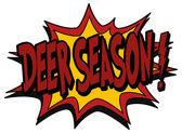 Explosion bubble deer season — Stock Vector