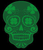 Green skull — Stock Vector
