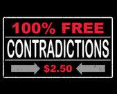100 percent free congratulations text — Stock Vector