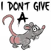 I don't give a rat — Stock Vector