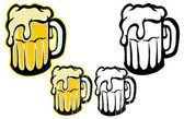 Big beers — Stock Vector