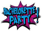 Explosion bubble bachelorette party — Stock Vector