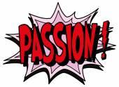 Explosion bubble passion — Stock Vector