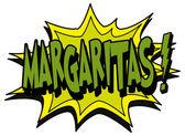 Explosion bubble margaritas — Vettoriale Stock