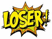 Explosion bubble loser — Stock Vector