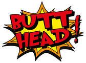 Butt head — Stock Vector
