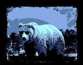 Artistic bear character — Stock Vector
