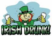Leprechaun celebrating Saint Patrick's Day — Stock Vector