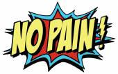 No pain! words in comic style — Stock Vector