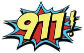 911 emergency comic symbol — Stock Vector