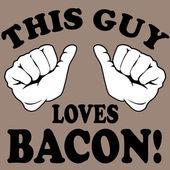 This guy loves bacon! — Vector de stock