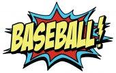 Word baseball in comic style — Stock Vector