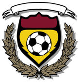 Soccer shield emblem with wings — Stock vektor