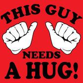 This guy needs a  hug! — Stock Vector