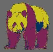 Cartoon coloful Panda — Stock Vector