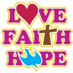 Hand drawn Faith Hope Peace Love. — Stock Vector #70240213