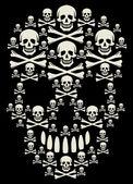 Bones skull illustration — Stock Vector