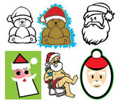 Retro santa set — Stock Vector