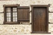 Old door and window — Stock Photo