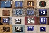 Número de casa — Foto de Stock