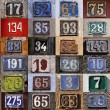Collection of House numbers — Stock Photo #70137107