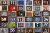 Collection of House numbers — Stock Photo