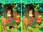 Spot the differences. — Stock Vector