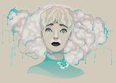 Portrait d'une dame — Vecteur
