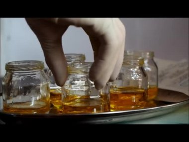 Tests in the laboratory. Medicine, health — Stock Video