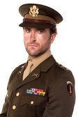 Young proud military officer — Foto de Stock