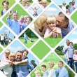 Collage of happy family pictures — Stock Photo #54048699