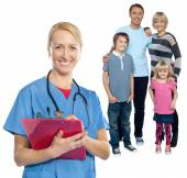 Family doctor keeps you safe and sound — Stock Photo