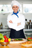 Male chef with folded arms — Stock Photo