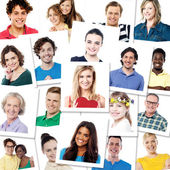 Different smiling people — Stock Photo