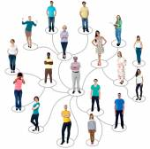 People connected in social network — Foto de Stock