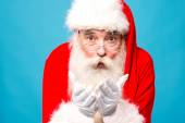 Santa claus with open palms — Stock Photo