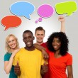 People with speech bubbles — Stock Photo #58408823