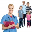 Family doctor keeps you safe and sound — Stock Photo #58408841