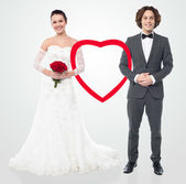Beautiful wedded love couple — Stock Photo