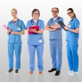 Group of smiling doctors — Stock Photo