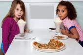 Little girls in restaurant — Stock Photo
