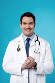 Male physician with stethoscope — Stock Photo