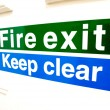 Fire exit keep clear sign — Stock Photo #77514200