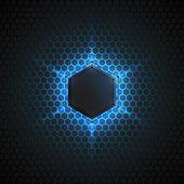Abstract 3d vector dark background — Stock vektor